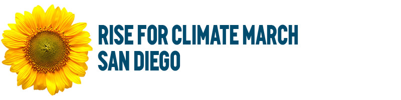 Rise For Climate March San Diego | logo