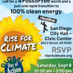 Rise For Climate March San Diego | Full Color Flyer in English