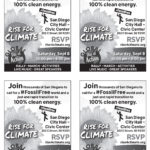 Rise for Climate San Diego Flyer English